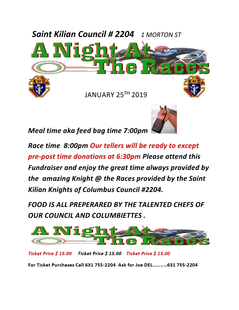 Knight at the Races Flyer JAN 2019